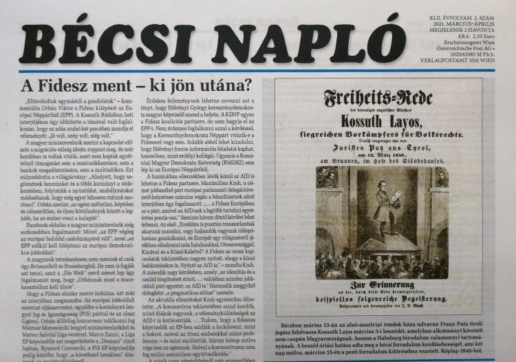 A Bécsi Napló március-áprilisi száma