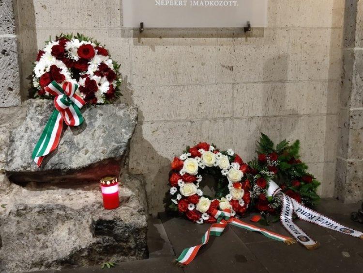 Mindszenty emléktábla koszorúzás Kölnben