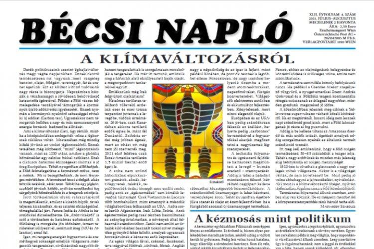 Kamenyeczky István alkotásai illusztrálják a Bécsi Napló legújabb számát