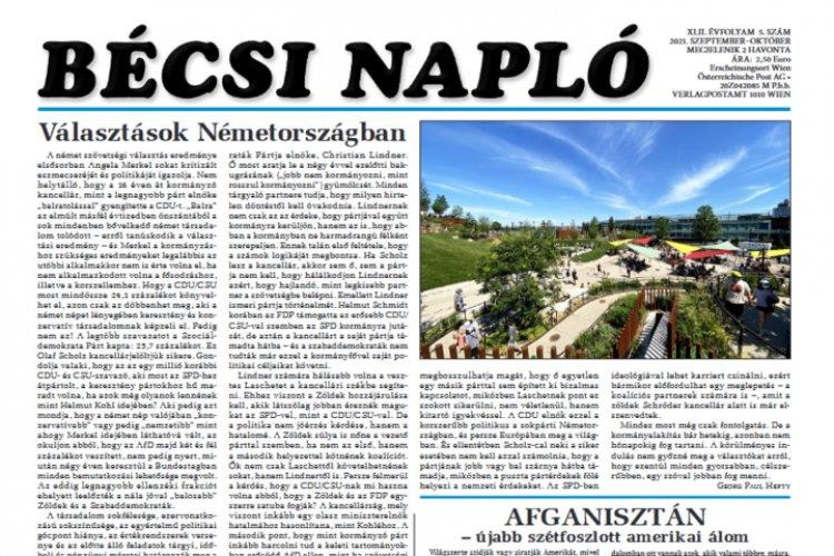Megjelent a Bécsi Napló idei 5. száma